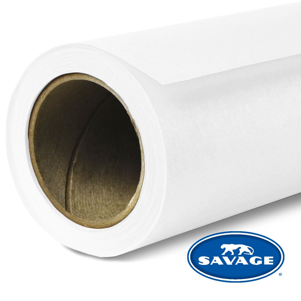 Savage Seamless Background Paper - #66 Pure White (107'' x 12yd) by Savage