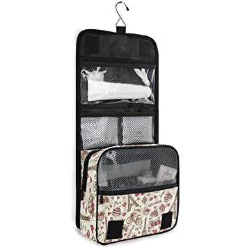 377d034ed9bd Hanging Travel Toiletry Bag Paris Tower Kit Makeup ... - Amazon.com