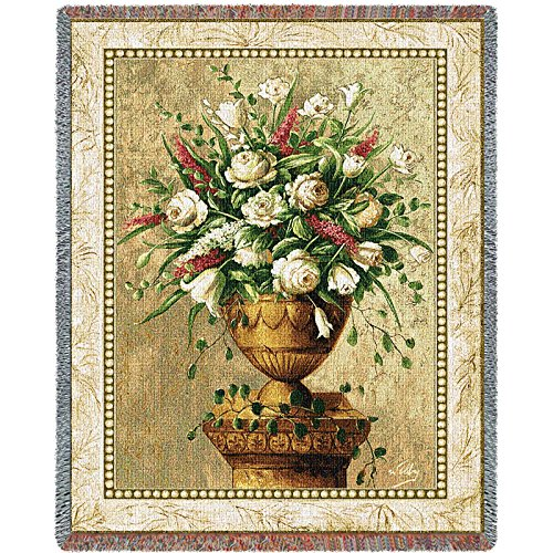 Pure Country Spring Expression Tapestry Blanket Throw (Pure Country Weavers Floral Tapestry)