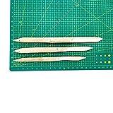 COMIART 3 Pcs Double Head Hard Strong Bamboo Reed