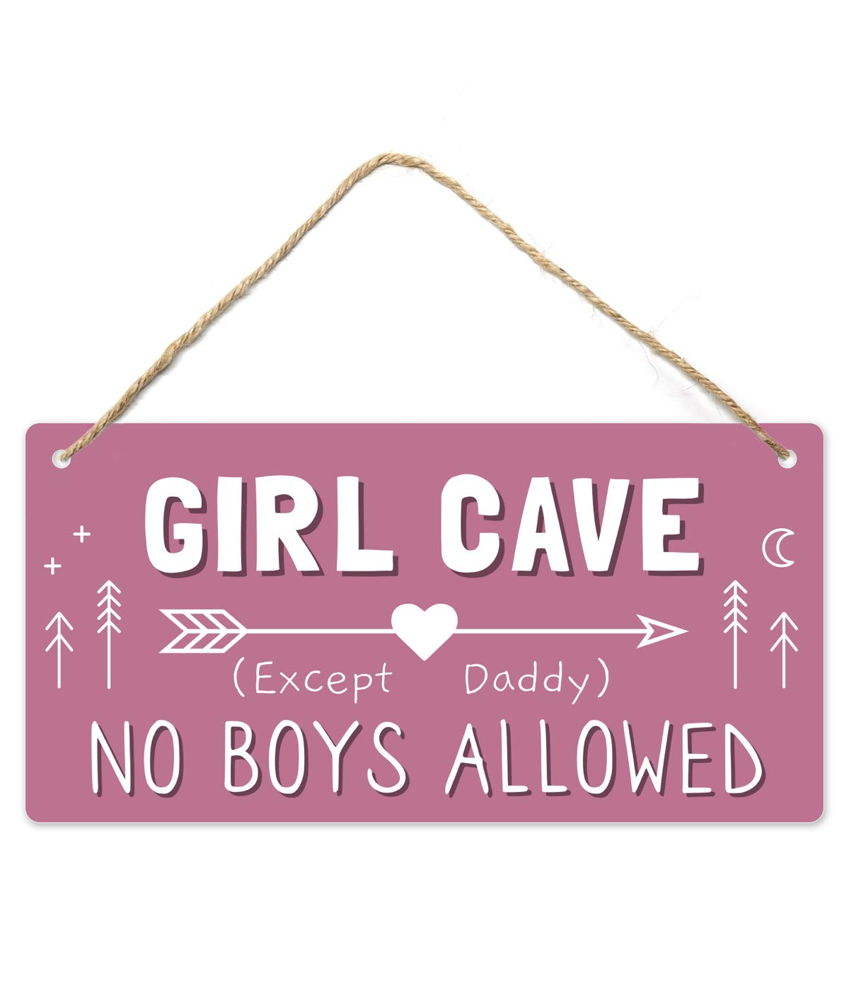 Girl Cave Sign, Girls Room Decorations for Bedroom, 12?x6? PVC Plastic Decoration Hanging Sign, High Precision Printing, Water Proof, Kids Room Signs for Door, No Boys Allowed Sign, Room Decor …