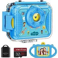 VanTop Junior K8 Kids Camera with 32GB Memory Card (Blue)