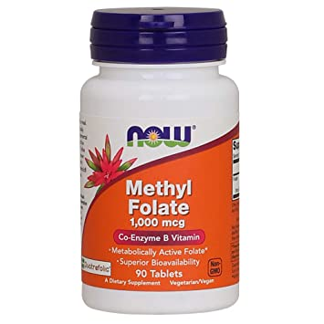 bd1c0661257 Now Supplements, Methyl Folate, 1000 mcg, 90 Tablets