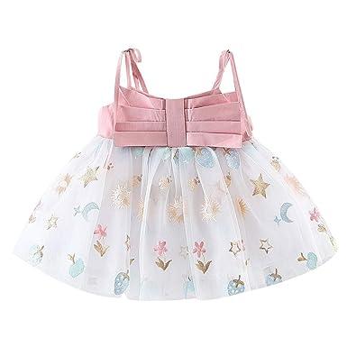 Hokoaidel Vestido de Niña Vestido de Princesa con Falda de Malla ...