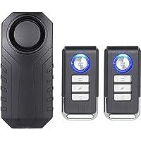 Mengshen Alarma Inalámbrica para Motocicleta, Alarma De Sensor De Seguridad Antirrobo Impermeable con Sonido Súper Alto…