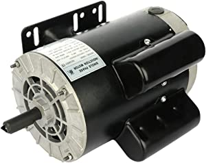 "ECCPP 5 SPL HP Single Phase Air Compressor Electric Motor 56 Frame 60 HZ Frequency 3450 RPM 16.0-15.0A 5/8"" Keyed shaft"