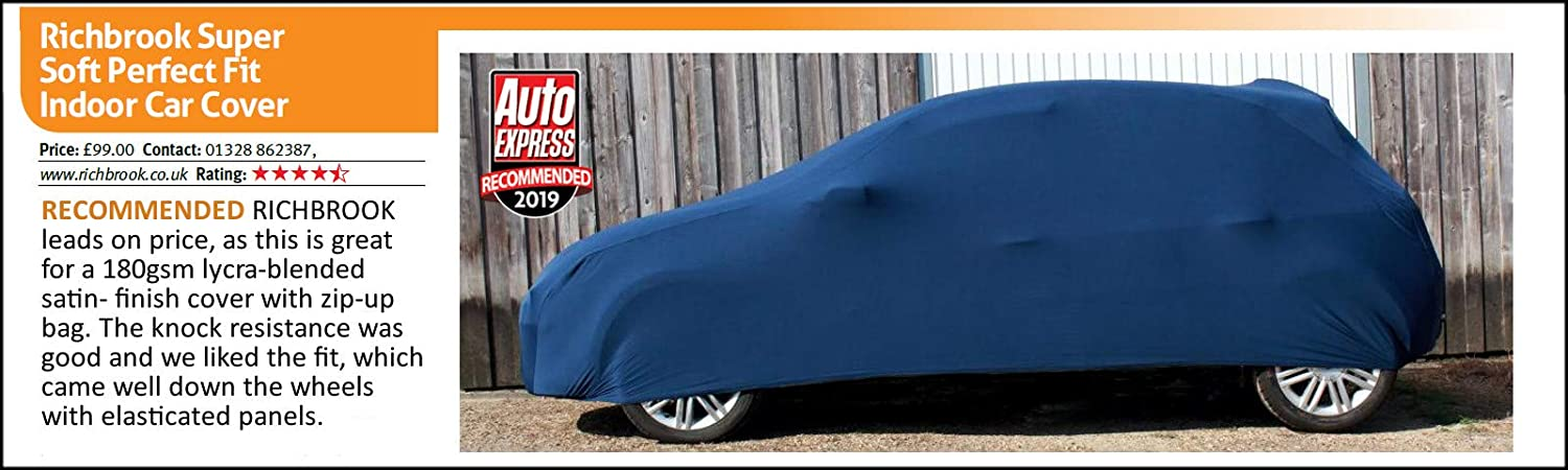 S Black Stretchy /& Strong Indoor Car Cover XS L /& XL Richbrook Auto Express 2019 Tested /& Recommended Super Soft M