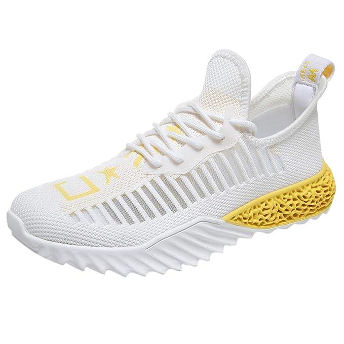 Zapatillas Hombres Color sólido Antideslizante Ligero y Transpirable Deportivos Zapatos Jogging Casuales para Correr Gimnasio Marlene1988: Amazon.es: Ropa y accesorios