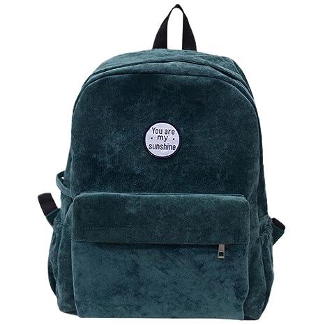 ❤️XINANTIME - Mochila de mujer Bolsos de hombro de pana para niñas Mochila de viaje escolar (32cm (L) x 40 (H) * 12 cm (W), ❤️Verde): Amazon.es: Hogar