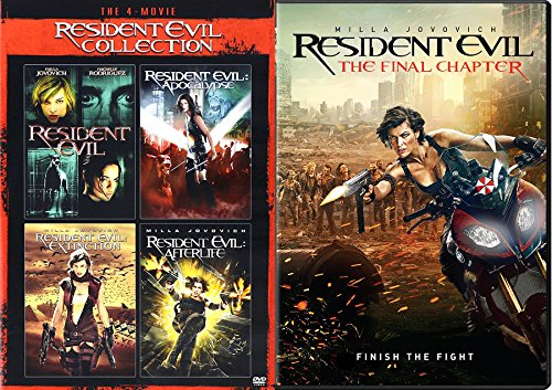 Paul W.S. Anderson's Resident Evil Collection 5 movie Set Final Chapter / Resident Evil / Apocalypse / Extinction / Afterlife - Alice is Milla Jovovich