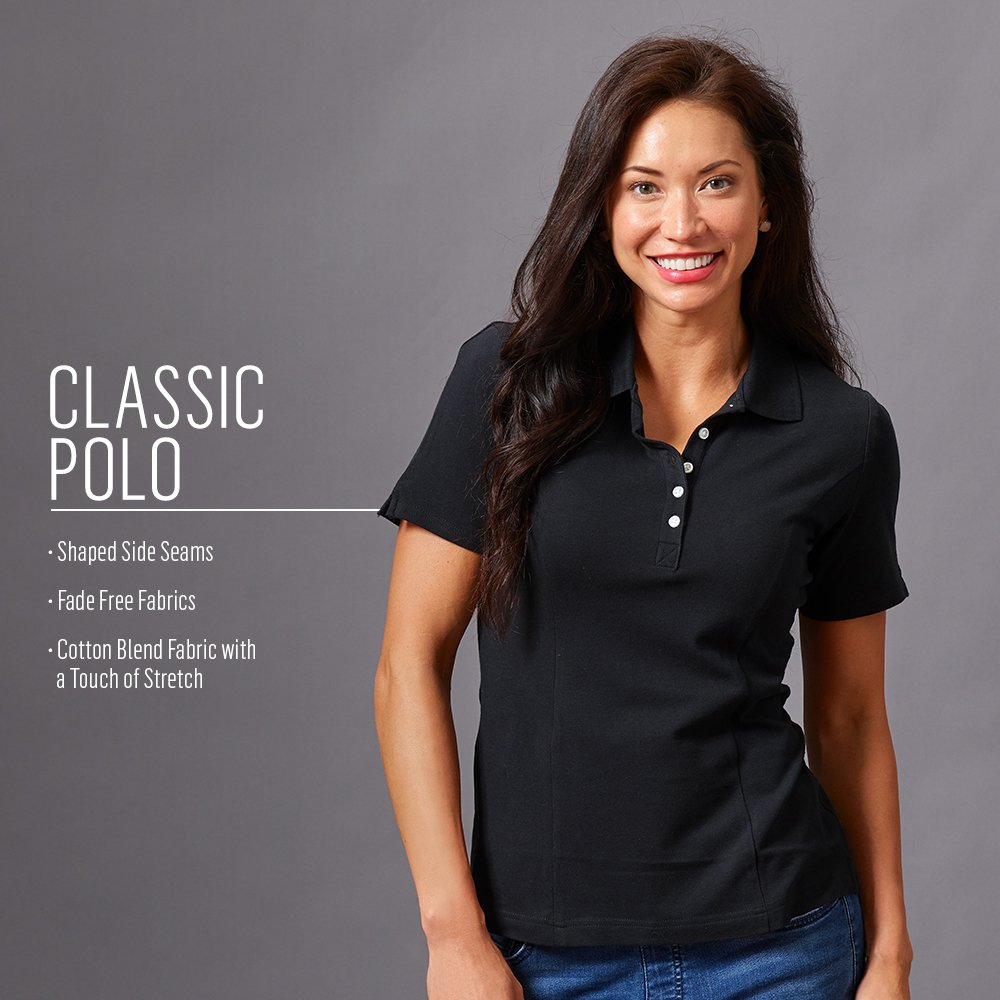 Riders By Lee Indigo Womens Short Sleeve Polo Shirt At Amazon