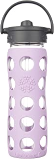 product image for Lifefactory 16- Once BPA-FREE GLASS BOTTLE with Straw, Cap and Silicone Sleeve, Lilac