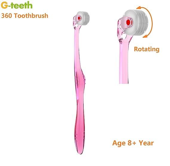 Rodillo cepillo de dientes, g-teeth limpia los dientes como un dentista batería de 360 grados, prevención de las enfermedades periodontales y caries dental ...