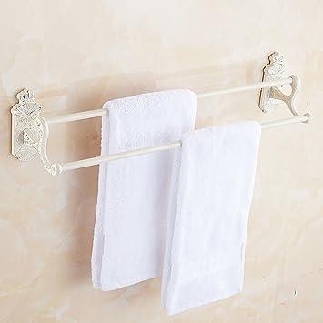 IVHJLP Gold Plus toalla blanca estante estilo europeo de toallas ...
