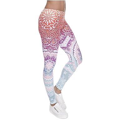 075300caba Womens Aztec Print Ombre Leggings Depot Soft Yoga Fashion Leggings Plus  Size Pant