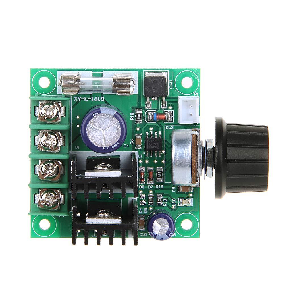 Zuanty 9V-50V 10A PWM Motor de corriente continua con bot/ón giratorio Regulador de velocidad ajustable