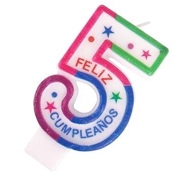Cotigo– Vela de Cumpleaños de Número 5