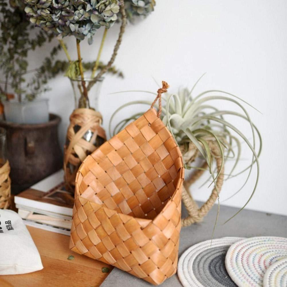 Pot de Fleurs de Panier /à Suspendre tiss/é en Feuilles de c/èdre Naturel pour d/écoration Murale et Rangement Navigatee Hanging Basket