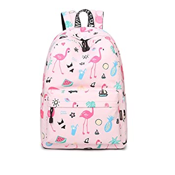Mochila de animal rosado lindo impermeable del flamenco: Amazon.es: Equipaje
