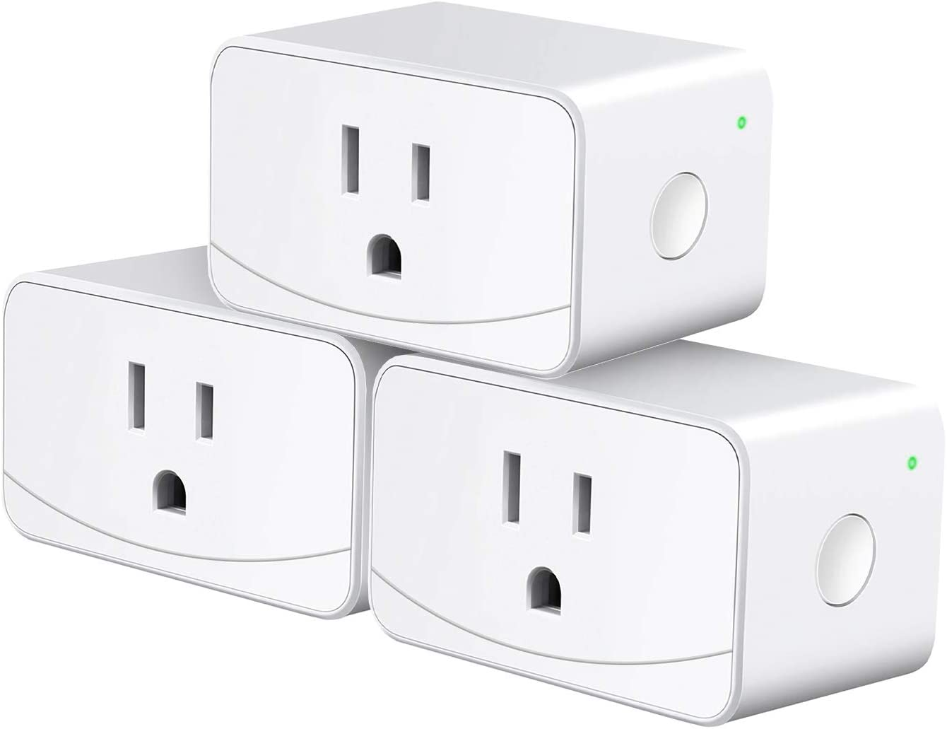 meross Smart Plug Mini WiFi Outlet 16A, Work with Alexa, SmartThings and Google, Voice Control, App Remote Control, Timer, FCC and ETL Certified, No Hub Required, 3 Pack