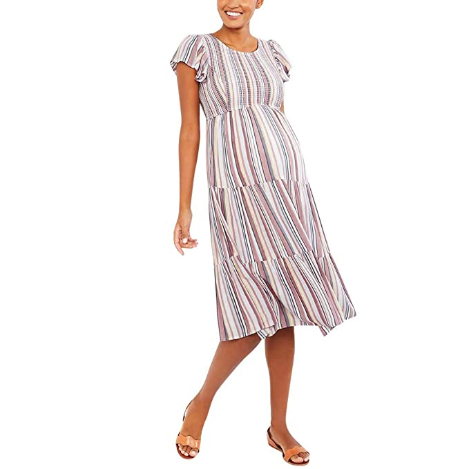 Amazon.com: IAMCOOL Plus Size Nursing Dress,Women Short ...