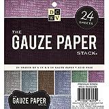 Gaze recouvert papier papier cartonné pile 6 « X 6 » 24/feuilles-6 couleurs/4 chaque