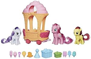 My Little Pony Cutie Mark Magic Pinkie Pie Sweetie Belle & Apple Bloom Rolling Sweets Cart