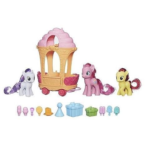 4d6fe740122 Amazon.com  My Little Pony Cutie Mark Magic Pinkie Pie Sweetie Belle    Apple Bloom Rolling Sweets Cart  Toys   Games