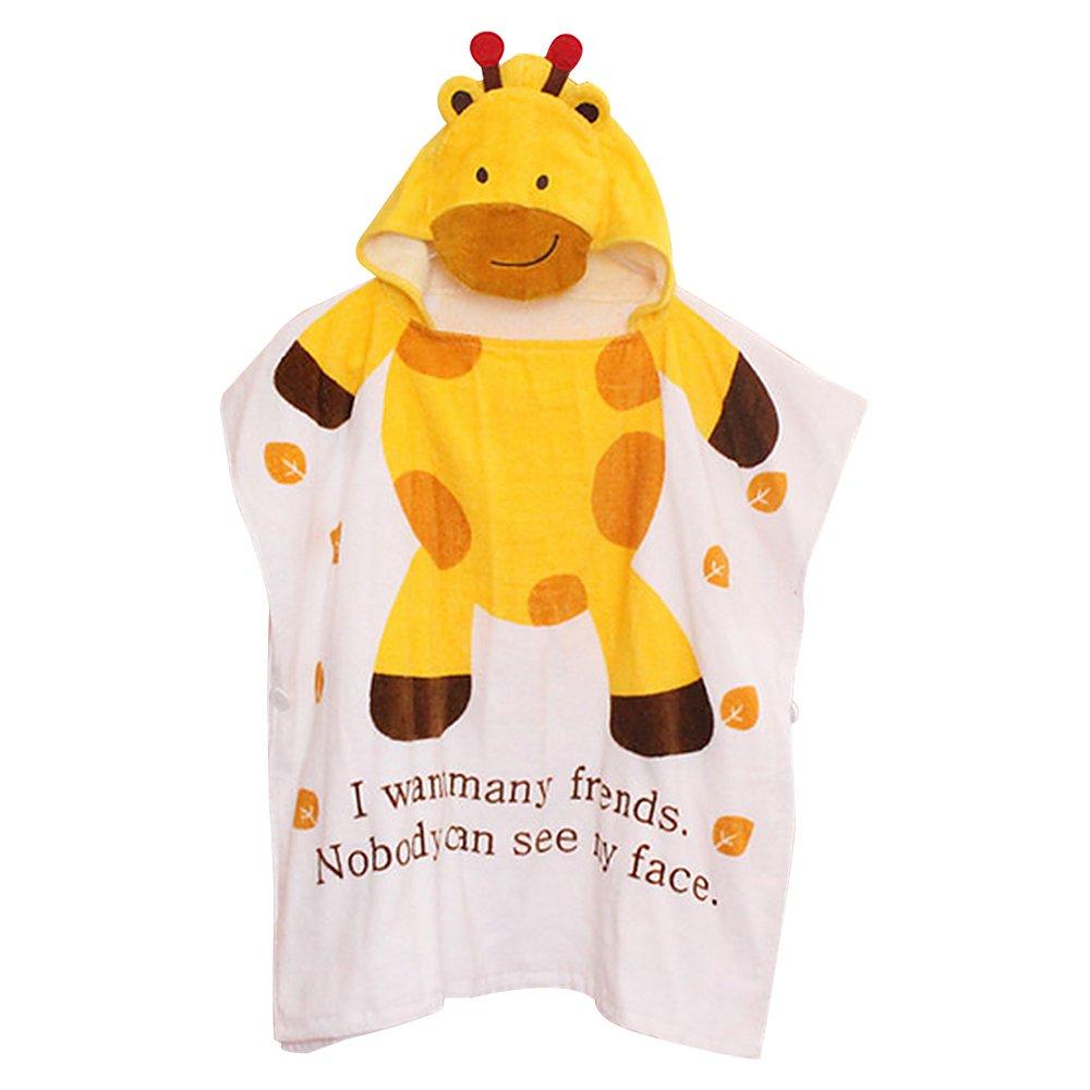 KINOMOTO Cartoon Cloak Kids Animal Face Hooded Bathrobe Towel Quick Dry Swim Bath Cloak For 0-6 (#1 Little Angel) KIMO138-1