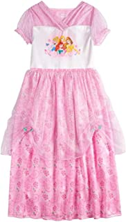 Disney Girl's' Fantasy Nightgowns Multi Princess Pink