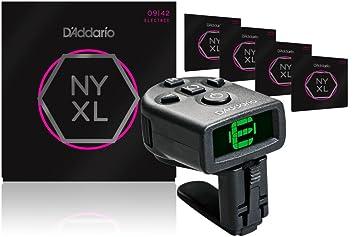 D Addario nyxl0942 Super Light cuerdas para guitarra eléctrica 5 unidades con NS Micro para