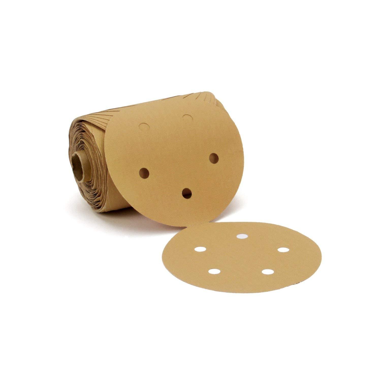 C-weight 6 Diameter 3M Gold 6 Diameter Pressure-Sensitive Adhesive Attachment TM Stikit TM PSA P80 Grit Paper Disc Roll 236U Pack of 1 Aluminum Oxide