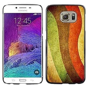 Paccase / Dura PC Caso Funda Carcasa de Protección para - Colorful Rainbow Painting Art Lgbt Rights Waves - Samsung Galaxy S6 SM-G920
