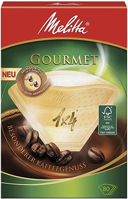 Melitta 80 FILTRI caffè Originali dimensioni 1 x 4 per i costruttori di caffè 2 x 80 CONFEZIONI
