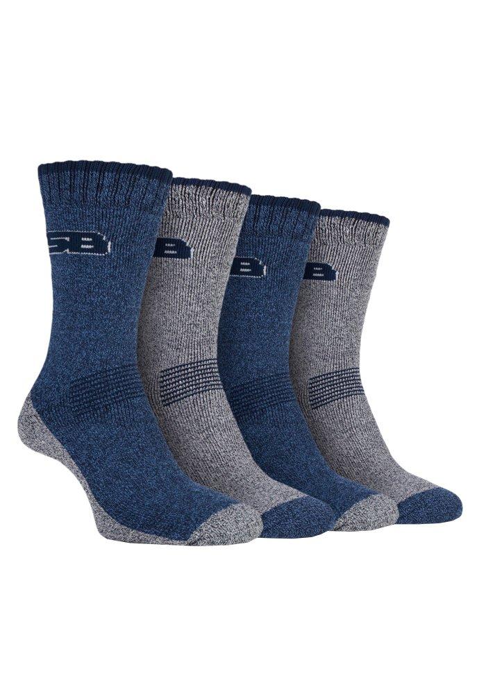 4 Pack Mens Cushion Lightweight Anti Blister Summer Hiking Socks for Hot Weather (7-12 US, SBMS004NVY)
