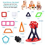 Syolee 113pcs Magnetic Building Blocks Magnet Tiles Toys Educational Construction Kit for Boys/Girls, Stacking Blocks for Toddler/Kids