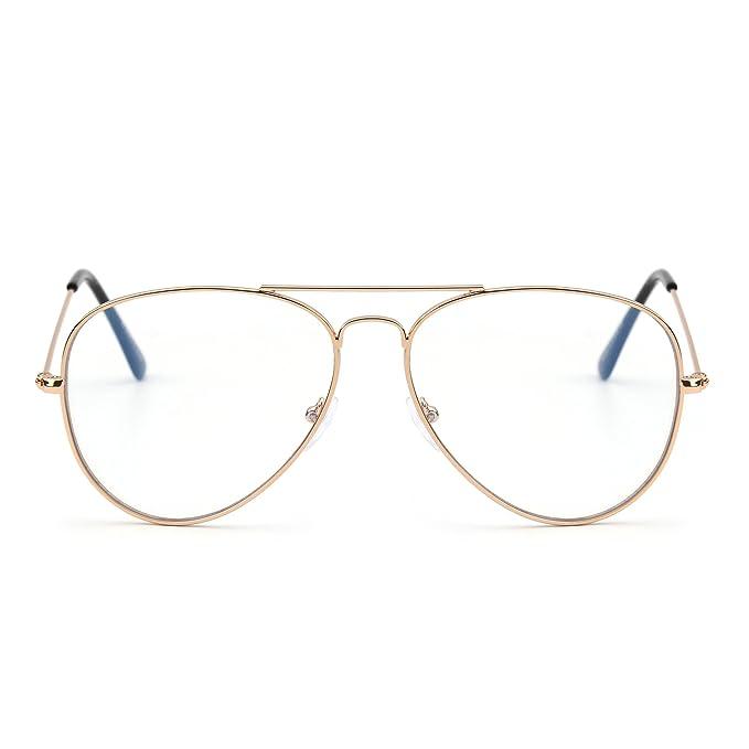 2652638336 Bloqueo de Luz Azul Gafas de Lectura Ordenador,Estilo de Retro Aviador  Reducir Fatiga Visual