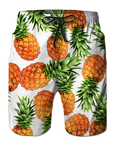Hawaiian Holiday Vacation Beach Theme Adult Swim Trunks Funny Patterned Board Shorts Vintage Toddler Boys Bathing Shorts Junior Beach Shorts X-Large