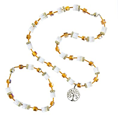Bernstein Bernstein Kette Perlen armband Halskette Damen Schmuck Geschenk