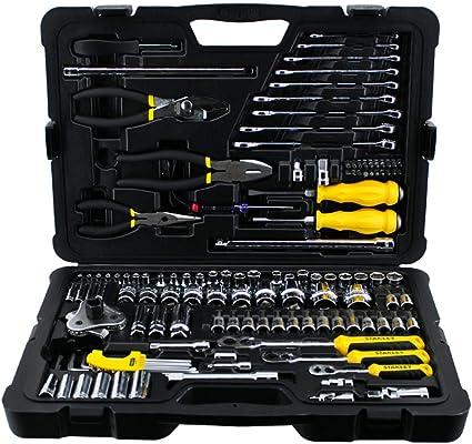 Stanley STMT74393-8 - Caja de herramientas multifunción (125 unidades), color metálico: Amazon.es: Bricolaje y herramientas