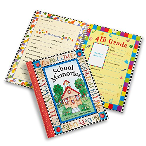 Deluxe School Memories Keepsake Photo Album Scrapbook from Preschool Through 12th - School Book Record