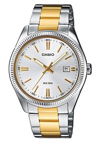 313f83e7aaba Casio Reloj de Pulsera MTP-1302PSG-7AVEF  Amazon.es  Relojes