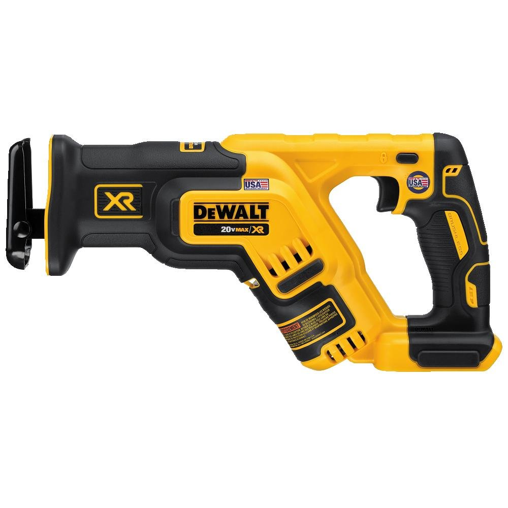 DEWALT DCS367B 20V Max XR Brushless Compact Reciprocating Saw, (Tool Only), with DEWALT DWA4101 Bi-Metal 2X Reciprocating Saw Blade Set, 8-Piece