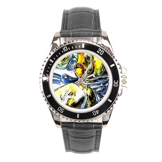 findself Hombres de negro Miss muñeca relojes Marcas mejor correa de piel: Amazon.es: Relojes