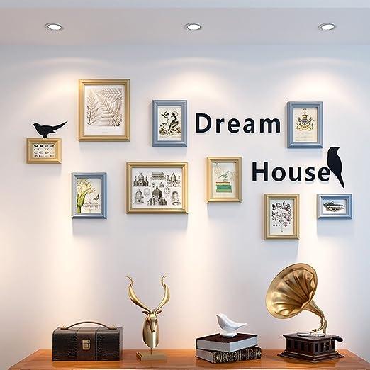 Foto Wandrahmen Minimalistische Moderne Foto Wand Massivholz Mittelmeer  Bilderrahmen Kombination Wohnzimmer Esszimmer Dekoration Malerei Kreative  Wand