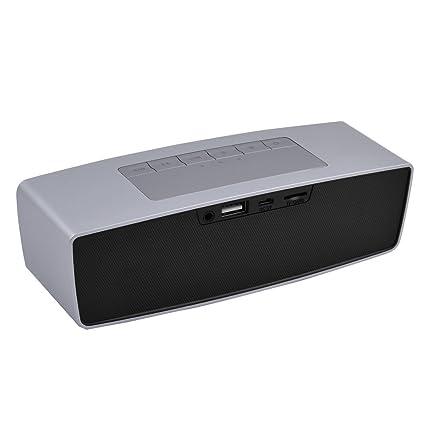 Amazon.com: eDealMax portátil Smartphone Mini Bluetooth recargable 3D estéreo de música de altavoces de sonido envolvente jugador del tono de Plata: Home ...