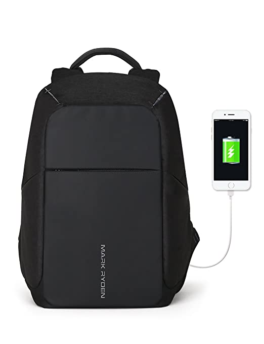 9e8a5bc91a5 Amazon.com: Markryden Anti-theft Laptop Backpack Business Bags with USB  Charging Port School Travel Pack Fits Under 15.6 Inch Laptop (Black 2.1):  Markryden