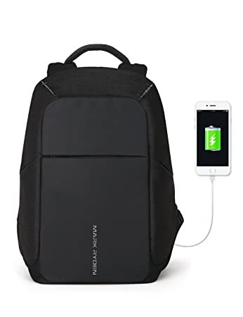67b16c0ee8 Amazon.com  Markryden Anti-theft Laptop Backpack Business Bags with USB  Charging Port School Travel Pack Fits Under 15.6 Inch Laptop (Black 2.1)   Markryden