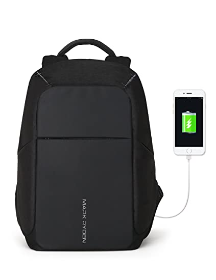 d5b72d496292 Markryden Anti-theft Laptop Backpack Business Bags with USB Charging Port  School Travel Pack Fits Under 15.6 Inch Laptop (Black 2.1)