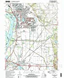YellowMaps Wood River IL topo map, 1:24000 Scale, 7.5 X 7.5 Minute, Historical, 1994, Updated 1995, 26.7 x 22 in - Tyvek